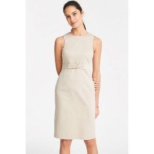 Ann Taylor Tie Front Dress in Cotton Sateen